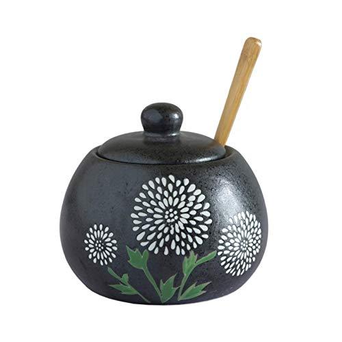 HEMFV 450ml Creativo de la Vendimia Condimento de cerámica Tarro de Aceite de Chile condimento Caja Sugar Bowl Suministros de Cocina condimento Tarro