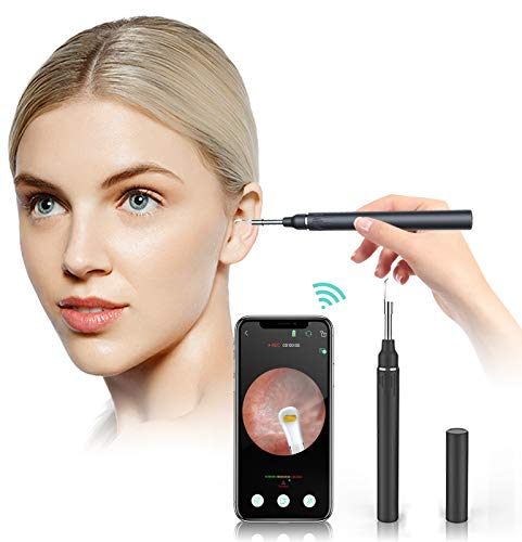 Ear Cleaning Endoscope Otoscope - 3.9mm HD Ear Wax Removal Kit- Wireless Smart Phone Otoscope-WiFi Visual Ear Cleaner Camera with 6 LED Lights,8 Ear Picks,Phone Holder for iPhone, Android and iPad