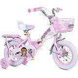 ZXQZ Bicicleta de Niña Bicicleta Plegable para Niños, Bicicleta para Niños Plegable de 12'/ 14' / 16'/ 18' con Rueda de Entrenamiento, Rosa (Size : 18'')