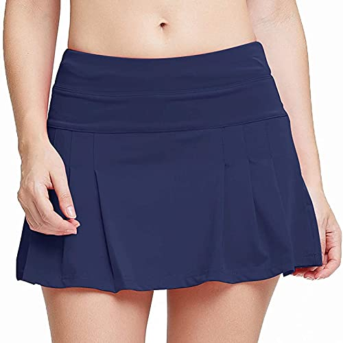 Leggings Deportiva Falda Color Liso para Mujer Culottes de Tenis Mujer Elegante Pantalones Cortos Mujer Absorbentes y Transpirables Pantalón Corto Deporte Mujer Casual Verano