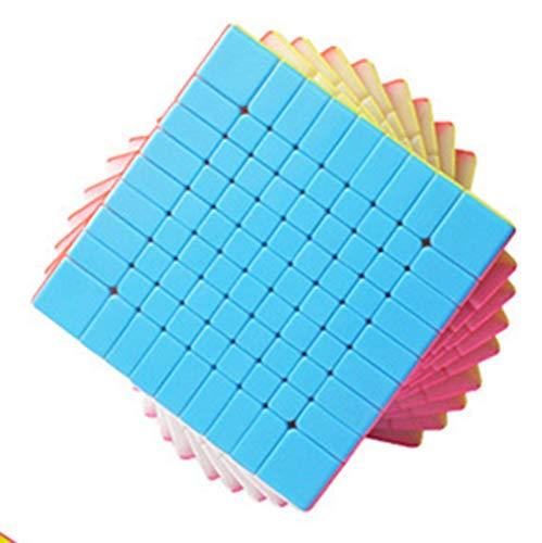 AMAZOM 7X7, 8X8, 9X9, 10X10, 11X11 Cubo De Velocidad Profesional Avanzada Smooth Magic Cube Puzzle Toy,9