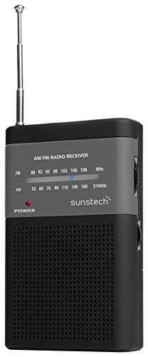 Sunstech RPS42 - Radio portátil con Altavoz, Color Negro