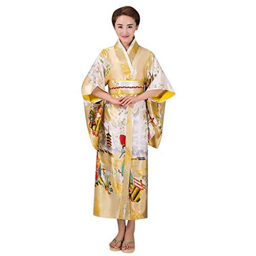 Sllowwa Damen Japanischen Stil Kimono Bademantel Kleid Anime Cosplay Serie Japanischen Nette Anime Cosplay Kostüme Halloween Kostüm