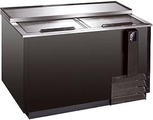 65 Amp Quot Back Bar Beer Cooler Chiller Commercial Grade Refrigerator 17 3 Cu Ft 2 Top Sliding Lids Reach In Bottle Can Storage Black Exterior Review Hotshop