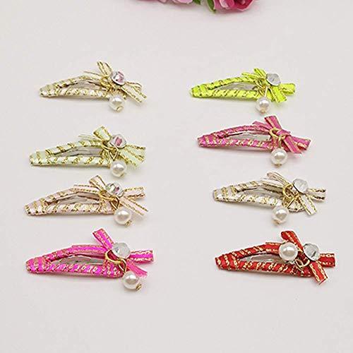 PULABO - Pinza para el pelo de mascotas, diseño de lazo de perla, color de la perla, calidad superior y creatividad