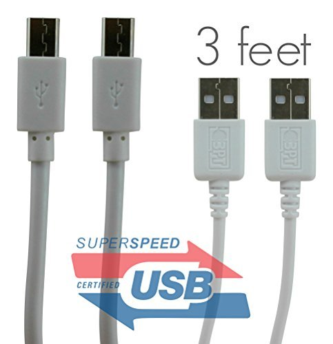 Micro USB Charger Cable [2-Pack, 3 ft] - BestPowerTech Certified Android Charge Sync Cables - Premium Quality, Fastest, 100% Guaranteed