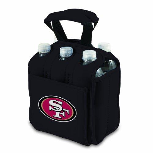 NFL San Francisco 49ers Six Pack Cooler Tote, Black