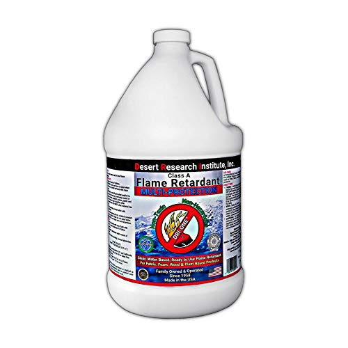Fire Retardant Spray for Fabric – Flame Retardant Fabric & Wood Class A, Non Toxic, Fire Protection C.A.C. Title-19, ASTM E84, 1 Gallon of DRI-ONE by Desert Research Institute, Inc.