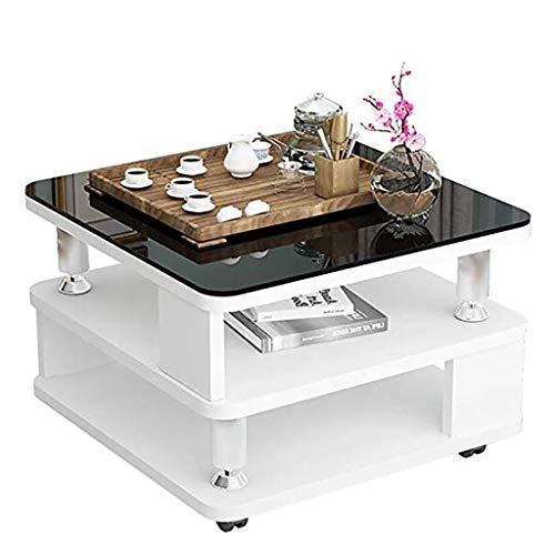 NGQDHR Quelques Coins du Salon Rangement Petite Table Basse Verre créatif Mini Table carrée canapé côté (Couleur : A)
