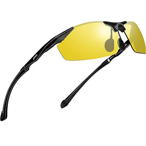 ATTCL Herren Nachtsichtbrille autofahren für brillenträger Nachtfahrbrille Auto Fahren Sonnenbrille 8585 night vision