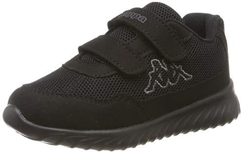 Kappa Jungen Unisex Kinder Cracker II OC Kids Sneaker, 1116 Black/Grey, 31 EU