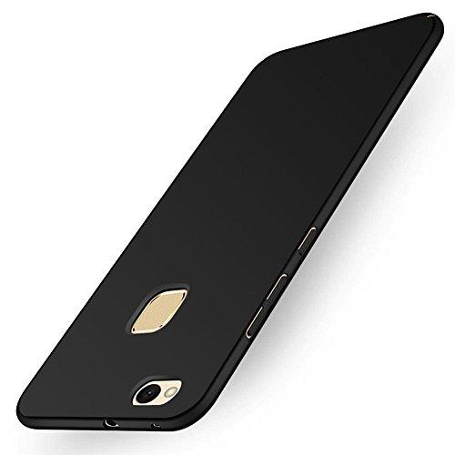 Cover Huawei P10 Lite, AILRINNI Cover P10 Lite in Plastica Rigida [Elegante e Sottile] Antiscivolo Resistente Custodia Cover Per Huawei P10 Lite 2017 - Nero Opaco