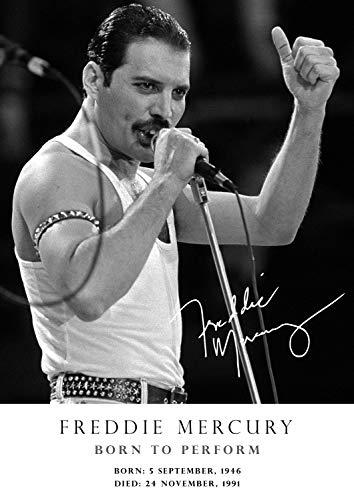 Salopian Sales Freddie Mercury Hommage Retro-Poster – signiert (Kopie) # 33 – A4 – Born 5 September 1946 – Died 24 November 1991 – Queen Music Ikone – Legende – A4 Poster – Druck – Bild