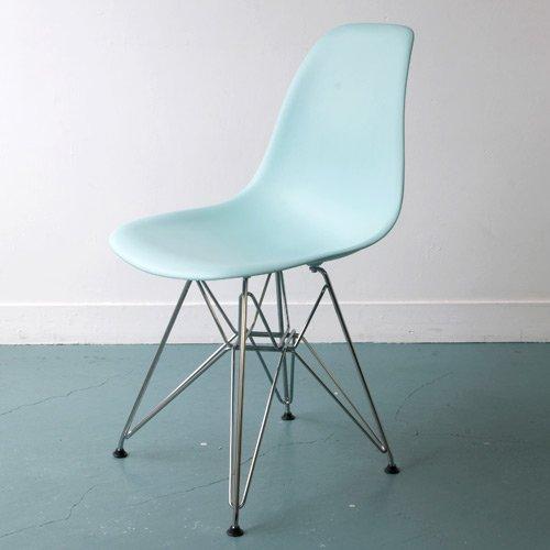 【正規輸入品】Herman Miller ハーマンミラー Eames Shell Side Chair イームズ シェルサイドチェア DSR (クロームベース)/アクアスカイ DSR.474TE8