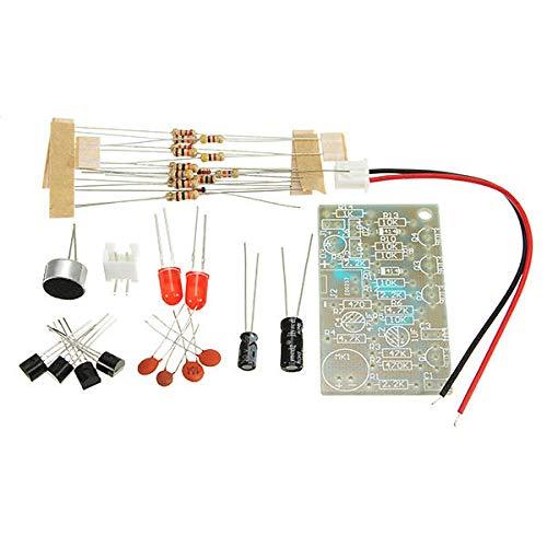 YEZIB Accesorios electrónicos de Bricolaje, Interruptor de Control de Voz Clap Kit de Alta sensibilidad del Interruptor LED Ritmo biestable DIY Kit de 3 Piezas