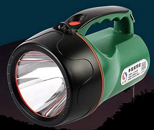 250W 300LM Batterie intégrée Spotlight Rechargeable En Plein Air Portable Lanterne Projecteur for La Chasse De Poche Portable Long Shots Lampe (Emitting Color : Blue)