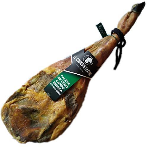 5 Kg Freilandhaltung Pata Negra Iberico Schinken aus Spanien - Ein echtes spanisches Gourmet-Erlebnis, das Sie mit Ihren Lieben teilen können - Spanischer Jamon Iberico Vorderschinken