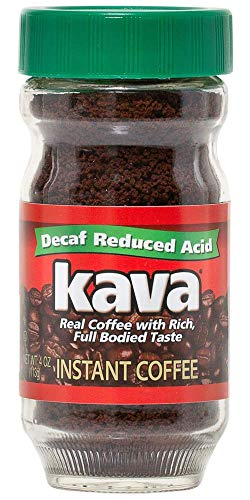 Kava Decaf Acid Reduced Instant Coffee, 4 Ounce Jar (Pack of 1)