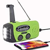 Windup Emergency Weather Radio, Hand Crank Solar Battery Operated Survival NOAA AM FM Radi...