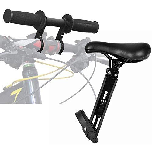KHXJYC Marco Principal De Bicicleta + Soporte De Mano, Asiento De Bicicleta para NiñOs Delantero, Asiento De Bicicleta Delantero Desmontable PortáTil para NiñOs De 2 A 5 AñOs (hasta 48 Libras)