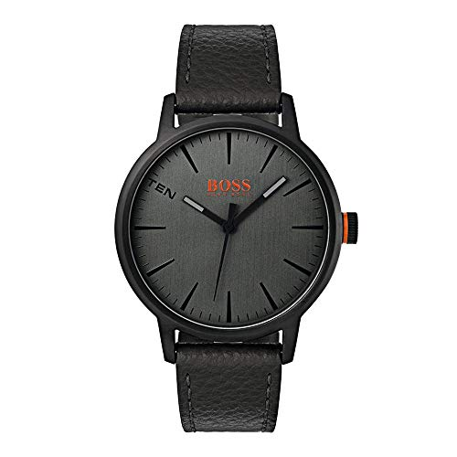Hugo Boss Orange Herren-Armbanduhr Quarz mit Leder Armband 1550055