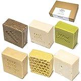 6 x 150g Naturseifen-Set | handgemachte Seifen ideal geeignet als Handseife, Körperseife und...