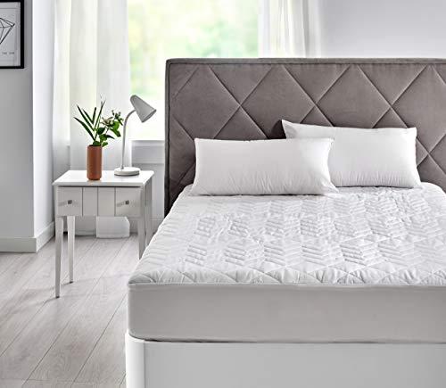Pikolin Home - Protector/cubre colchón acolchado con tratamiento antialérgico, impermeable y transpirable con tejido 100% algodón