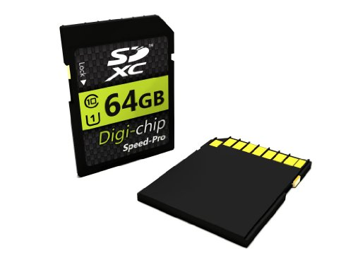 Digi Chip Speicherkarte, 64GB, SDXC, Class 10 für Nikon Coolpix 64GB, L32, L31 & Coolpix L840 Digitalkameras