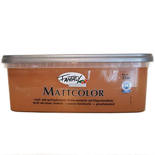 Fantasy Mattcolor Bunte Wandfarbe 2,5 L Farbwahl, Farbe:Cappuccino