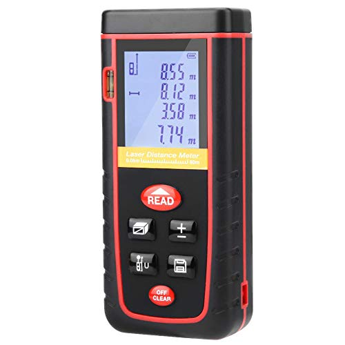 Digital LCD Dispaly Laser Distance Meter rz-a 80m Measuring Range Rangefinder Machine with Backlight 635nm, 1mW (Not Included Battery)