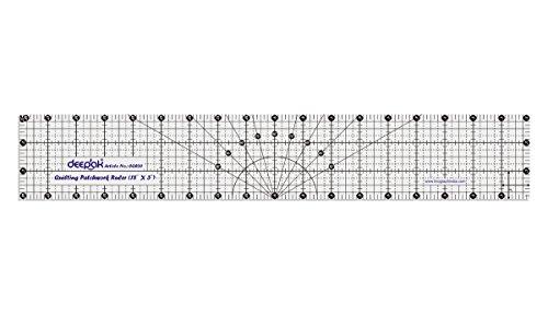 LINOGRAPH rechthoekige vorm quilt planning en crafting quilting patchwork liniaal sjabloon