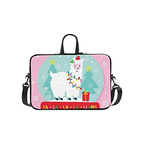 Christmas lama globus Muster Koffer Laptop Tasche Messenger Schulter Tasche Crossbody Handtasche für geschäftsreisen