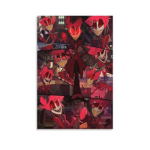 WQING Hazbin Hotel Anime Comics Canvas Art Poster Art...