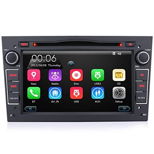 iFreGo Autoradio con navi per Opel, autoradio touchscreen da 7 pollici 2 Din, navigazione GPS, autoradio DVD CD, autoradio Bluetooth, Windows CE, autoradio dab +