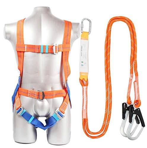 ZH Safety Absturzsicherung Vollkörper Auffanggurt Fallschutz-Set Bergsteigen,Ausbau,Feuerrettung,Luftarbeit,bergab