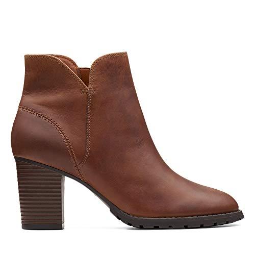 Clarks Damen Verona Trish Schlupfstiefel, Braun (Dark Tan Leather), 39 EU