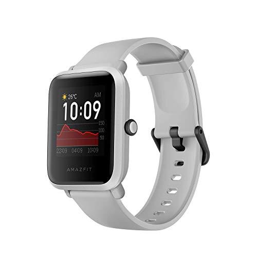 Amazfit Bip S Smartwatch Reloj Inteligente Fitness Rastreador con Monitor cardíaco y Gimnasia batería útil de 40 días duración Sumergible 5 ATM Bluetooth 5.0 / BLE Andriod iOS (Blanco)
