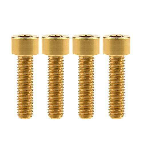Wanyifa Titan-Innensechskantschrauben Ti M8 x15 20 25 30 35 40 45 50 60 m 1,25 mm Pitch Innensechskantschrauben 4 Stück (Vierkantkopf M8 x 30 mm, Gold)
