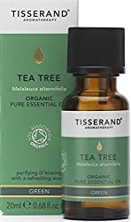 Organic Tea Tree pure essential oil 20 ml - 100 Percent Melaleuca Alternifolia Medicinal, fresh, green and strong penetrating aroma that is used mostly for its physical properties - blends well with Rosemary, Lemon, Eucalyptus and Lavender Combined w...