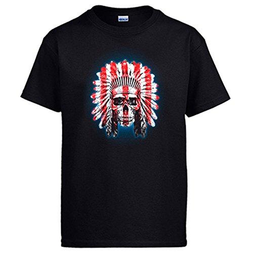 Diver Camisetas Camiseta Atlético de Madrid Indio - Negro, L