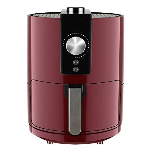 Air fryer, Freidora sin aceite Utensilios de cocina antiadherentes de 3.5L Temporizador de control de temperatura ajustable Tecnología de circulación de aire Cocina saludable baja en grasas,Rojo