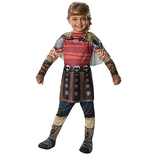Kinder Kostüm | Drachenreiter Astrid | Gr. 98-128 | DreamWorks Dragons , Größe:M