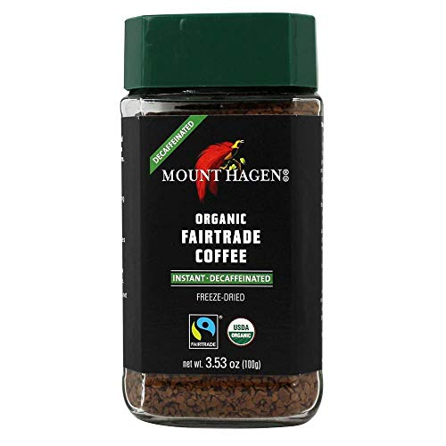 Mount Hagen, Coffee Decaf Freeze Dried Organic, 3.53 Ounce