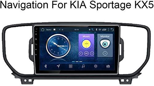 Yunbb Android 8.1 Sistema de navegación del Coche de 9 Pulgadas estéreo del Coche de la Pantalla táctil para KIA Sportage KX5 2016-2017 es el DVD/Wi-Fi/Multimedia/Bluetooth Rueda /