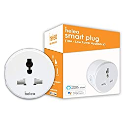 Helea 10A Wi-Fi Smart Plug, for Low Power Appliances (Type D) Compatible with Alexa & Google Assistant,Helea Technology Pvt. Ltd.,HL-SP10D