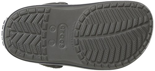 Kids' Crocband Clog | Slip On Shoes for Boys and Girls | Water Shoes, Smoke/Navy, J3 US Little Kid