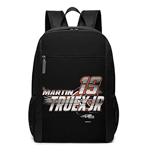 IUBBKI Martin Truex Jr. Backpack 17 Inch,Extra Large Anti Theft College School Backpack for Men and Women,Water Resistant Big Business Computer Backpack Bag