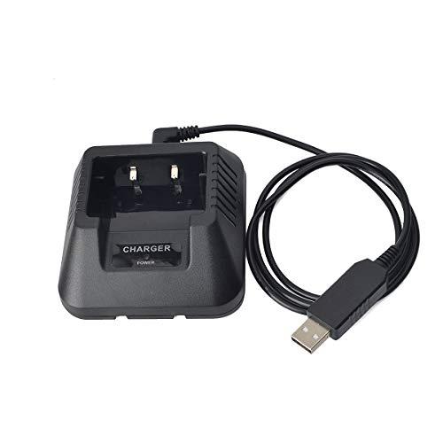 HYS Walkie Talkie - Cargador de batería USB para radio Baofeng UV-5R UV-5RE DM-5R