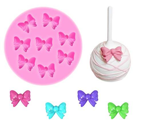 Yunko W0770 8 Mini Bows Silicone Mould Fondant Sugar Bow Craft Molds DIY Cake Decorating