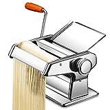 Holzsammlung Nouilles Machine de Presse en Acier Inoxydable, 3 en 1 Machine à Pâtes Manuelle de Cuisine - Prépare de Parfaites Spaghetti, Lasagnes, Tagliatelles ou Fettuccine #5